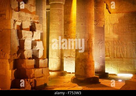 Egitto - Kom Ombo, Tempio di Sobek Foto Stock