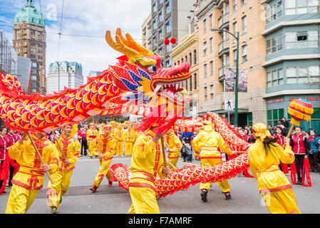Anno Nuovo Cinese Parade, Vancouver, British Columbia, Canada Foto Stock