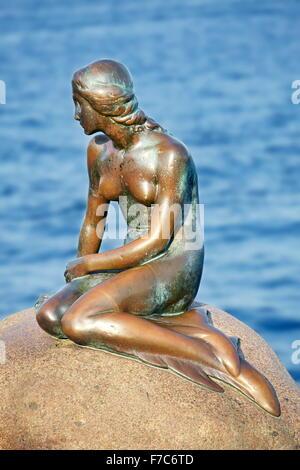 La statua della Sirenetta, Copenhagen, Danimarca Foto Stock