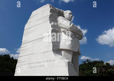 Martin Luther King Jr. Memorial, il Washington Mall di Washington, D.C., Stati Uniti