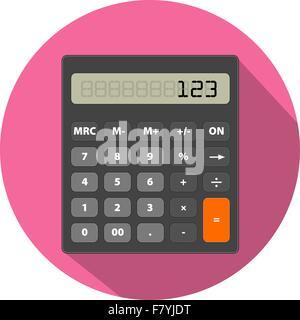 Immagine calcolatrice in stile piatto Foto Stock