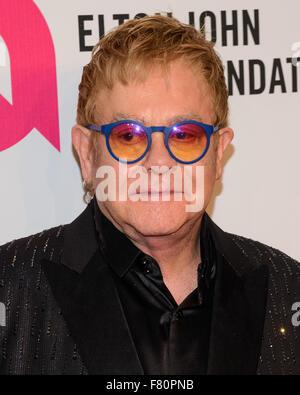 Xiv annuale di Elton John AIDS Foundation il permanere di un beneficio di visione a parete di Cipriani San dotata Foto Stock