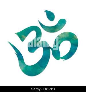 Immagine del simbolo mantra, Ohm, utilizzato in meditazione e yoga.