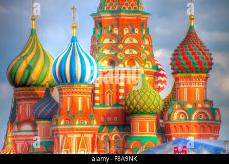 Cattedrale di San Basilio. Mosca, Federazione Russia, Piazza Rossa, costruito 1554-61 Foto Stock
