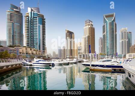 Dubai City - Marina, Emirati Arabi Uniti Foto Stock