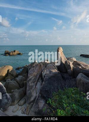 Hin Ta Hin Yai nonno e la nonna rocce, Koh Samui, Thailandia Foto Stock