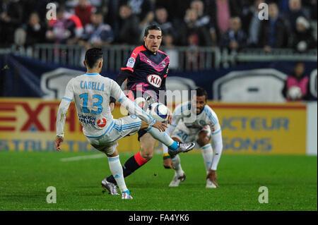 Bordeaux, Francia. Xx Dec, 2015. Stade Bordeaux Atlantique. French League calcio 1. Bordeaux rispetto a Marsiglia. Foto Stock