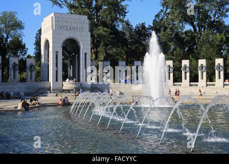 Il Memoriale della Seconda Guerra Mondiale e fu costruito per onorare noi veterano militari e civili che sono morti, Foto Stock