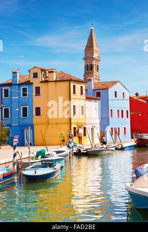 Isola di Burano vicino a Venezia, Italia Foto Stock