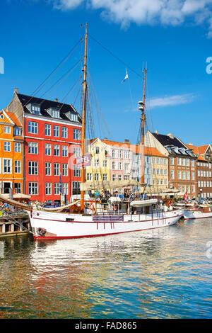 Copenaghen, Danimarca - Nyhavn Canal Foto Stock
