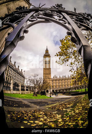 Il Big Ben e il Parlamento di Londra, Regno Unito. Foto Stock