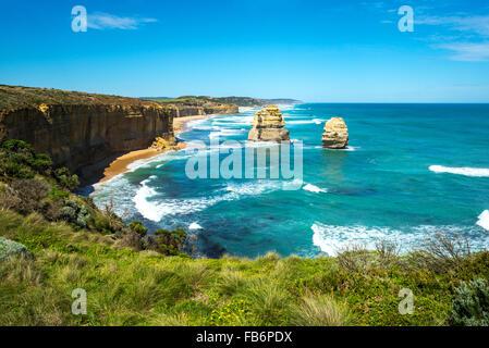 Australia, Port Campbell, i dodici Apostoli sea park Foto Stock