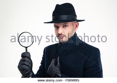 Tenendo Nero Detective La Cappotto In Di Giovani I Lente 14Xn6qI6