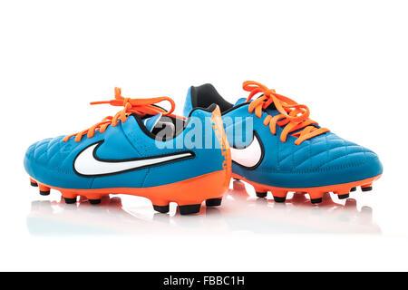 Display del negozio di scarpe Nike Football Foto & Immagine