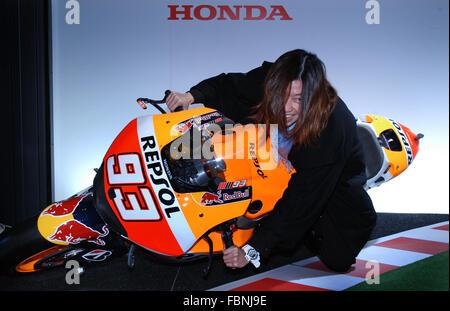 Tokyo, Giappone. 15 gennaio, 2016. Sydney Tan della Malasia in posa per una foto durante il Tokyo Auto Salon venerdì Foto Stock