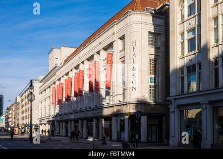 Guarire&figlio store, Tottenham Court Road, Londra, Inghilterra, Regno Unito Foto Stock