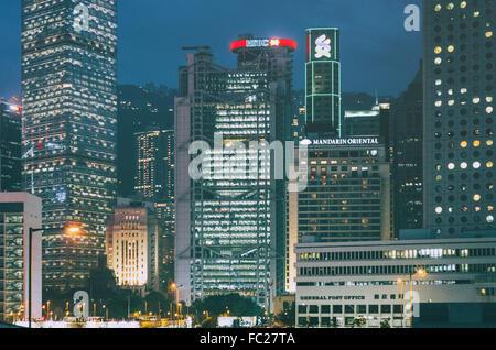 Grattacieli di central hong kong Foto Stock