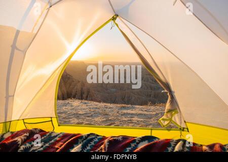 Campeggio al Font del punto in Anza-Borrego Desert State Park, California Foto Stock