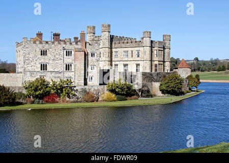 Il Castello di Leeds Kent REGNO UNITO il castello più belli al mondo. Il Castello di Leeds Maidstone Kent ME17 1PL Foto Stock