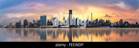 Inferiore dello skyline di Manhattan. Giant vista panoramica USA Foto Stock