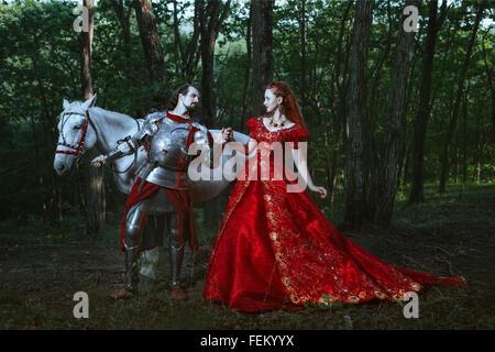 Cavaliere medievale con la signora