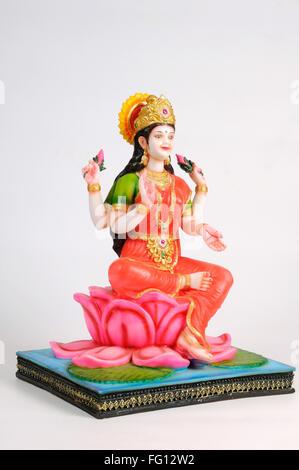 La statua della dea laxmi ; India Foto Stock