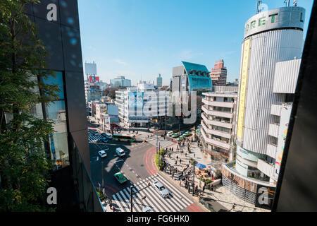 Tokyo, Giappone - 14 Gennaio 2016:vista aerea del distretto di Omotesando. Omotesandō è conosciuto come uno dei Foto Stock