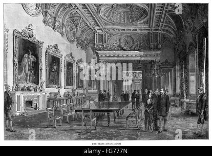 La Sala Da Pranzo A Buckingham Palace Di Londra 1940 Foto Stock Alamy