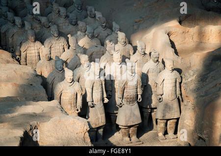 Museo dei Guerrieri di Terracotta, il mausoleo del primo imperatore di Qin, Xian, Provincia di Shaanxi, Cina Foto Stock