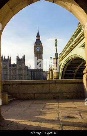 Il Big Ben e il Parlamento a Londra Foto Stock
