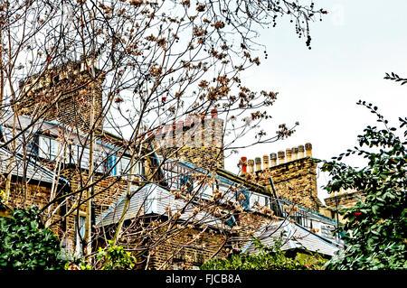 Case nell area di Bloomsbury di Londra; Haeuser in Bloomsbury