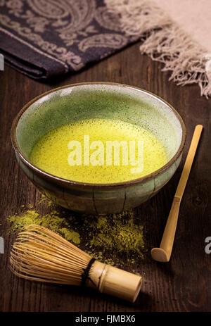 Matcha in polvere fine tè verde Foto Stock