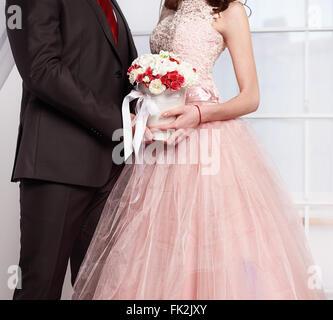 Sposa e sposo Foto Stock