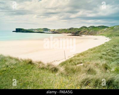 Oldshoremore Beach, Sutherland, Scotland, Regno Unito, Europa Foto Stock