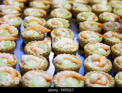 Gamberetti dolci in close up, l'immagine orizzontale Foto Stock