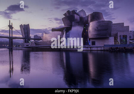 Museo Guggenheim di Frank O. Gehry. Bilbao. Vizcaya. Spagna Foto Stock