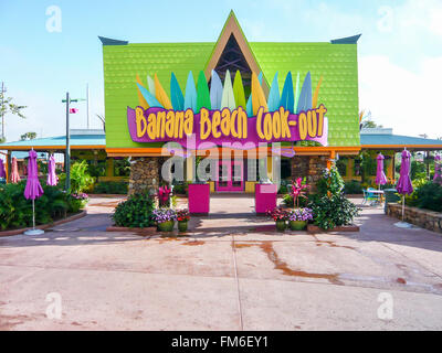 Banana beach cook-out, Aquatica, Florida. Foto Stock