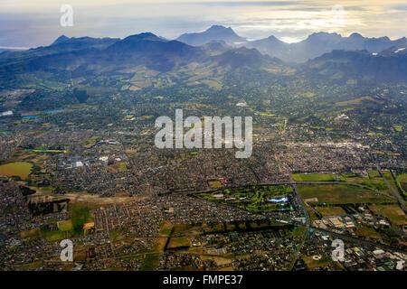 Cape Town, sobborghi meridionali, vista aerea, Western Cape, Sud Africa Foto Stock