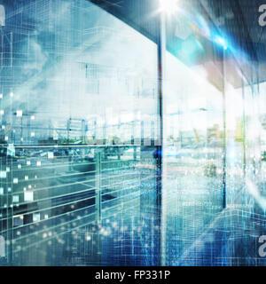 Il futuristico background tecnico Foto Stock