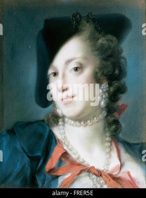 Rosalba Carriera - una signora veneziana dalla casa del Barbarigo Foto Stock