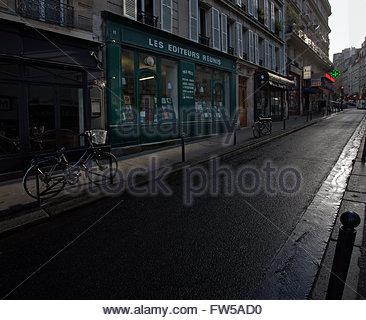 Il russo book shop, les Editeurs Reunis, rue de la Montagne Sainte Geneviève, Paris 5e Foto Stock