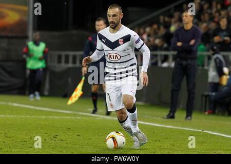 Diego Contento in azione durante il match di Europa League Bordeaux Girondin - FC Sion presso lo Stadio Tourbillon Foto Stock