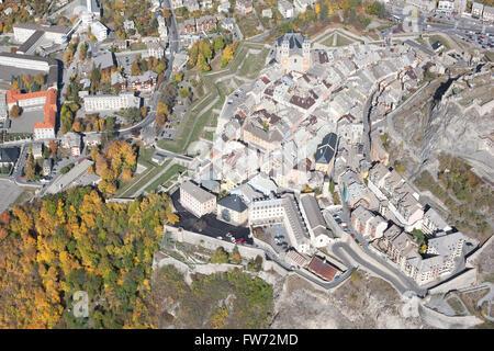 Cittadella di Briancon (vista aerea). Hautes-Alpes, Francia. Foto Stock