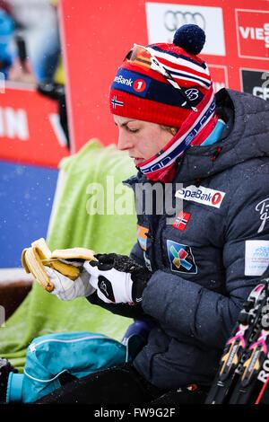 Nove Mesto na Morave, Repubblica Ceca - 23 Gennaio 2016: FIS Cross Country World Cup, donne 10km. Foto Stock