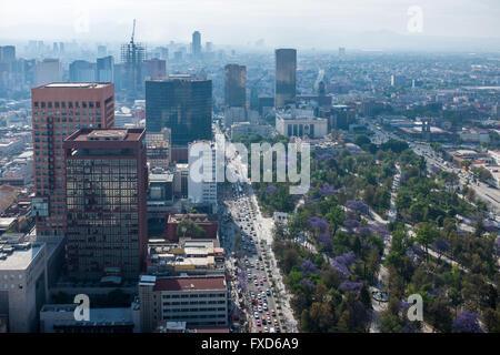 Vista dalla Torre Latinoamericana in Città del Messico Foto Stock