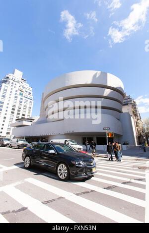 Salomone. R. Guggenheim Museum, la Fifth Avenue, Manhattan, New York City, Stati Uniti d'America. Foto Stock