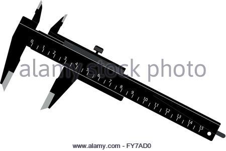 La pinza nera. Illustrazione vettoriale di una semplice pinza nera Foto Stock