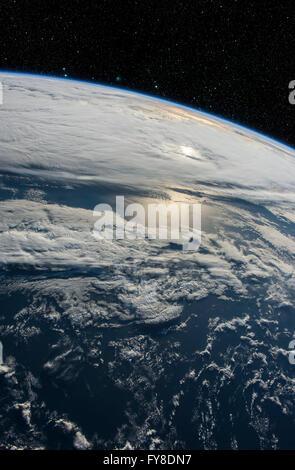 Il Pianeta Terra dallo spazio. Gli elementi di questa immagine fornita dalla NASA Foto Stock