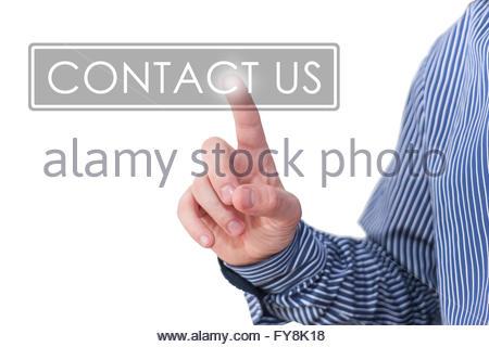 contattaci Foto Stock