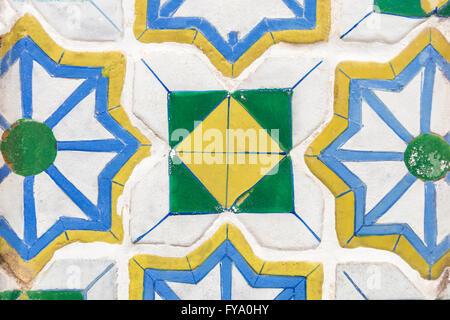 Sfondo di messa a fuoco ravvicinata su pattern piastrella ceramica